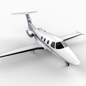 3d model lightweight eclipse 500 business jet