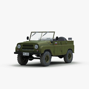 3ds soviet russian uaz 469