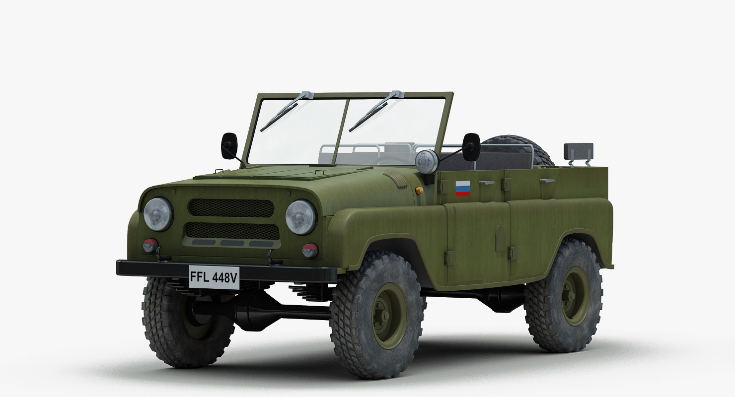3ds soviet russian uaz 469. Black Bedroom Furniture Sets. Home Design Ideas