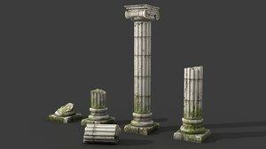 ancient columns 3d max