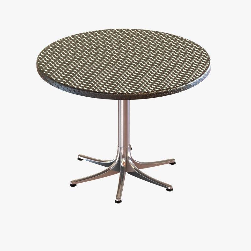 outdoor inox tables dwr 3d max