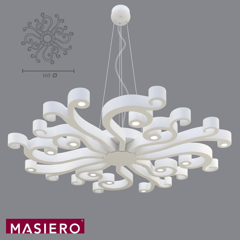 3ds max pendant light masiero virgo