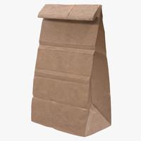 paper bag 2 3d model