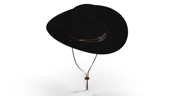3d black hat women