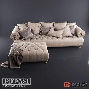max richard sofa pouf provasi