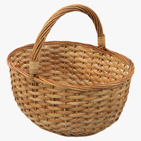 c4d straw basket