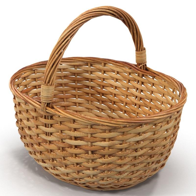 c4d straw basket