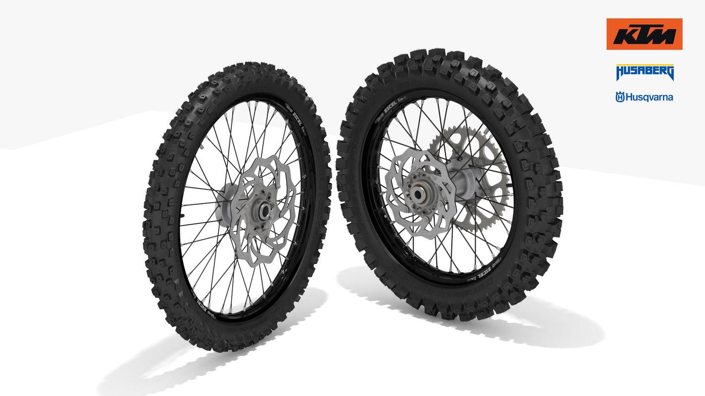 ktm oem motocross wheel obj