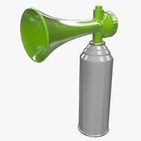3d model air horn