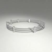 3d model silver bracelet diamond cuts