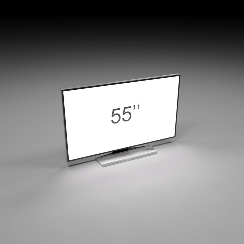 3d model tv 55 inch