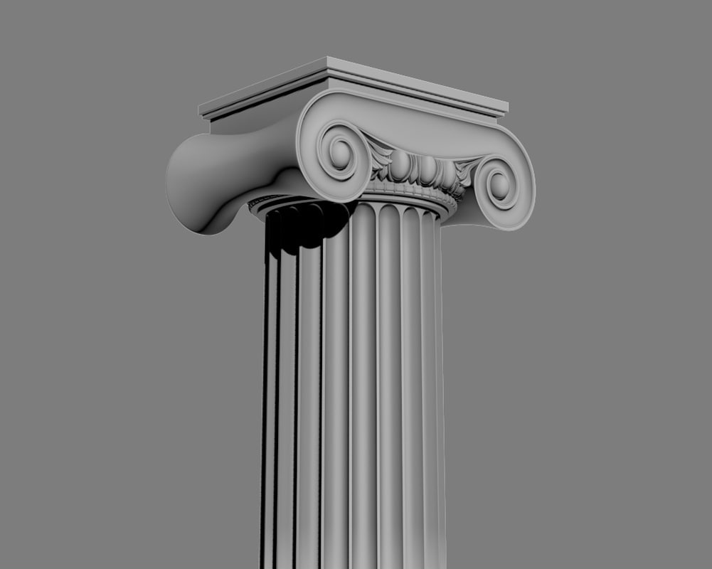 ionic column circular max