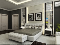Interior Scene - Project 03 - master bedroom