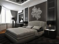 3d max interior - 2 bedrooms
