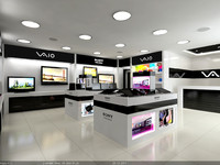 Interior Scene - Project 04 - Sony Vaio - show room