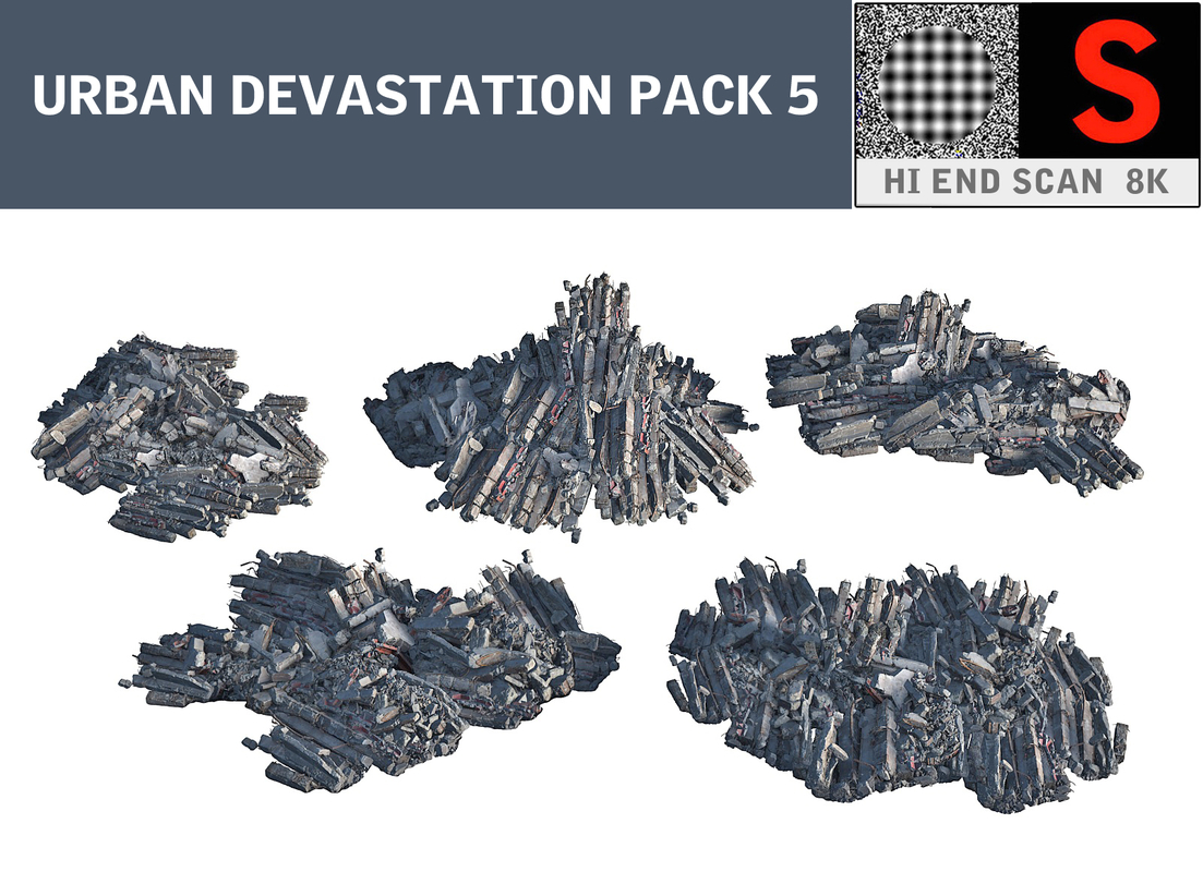 3d urban devastation pack 5