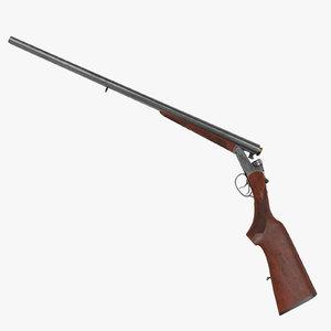 old shotgun 3d model