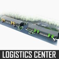 logistics complex 3d model