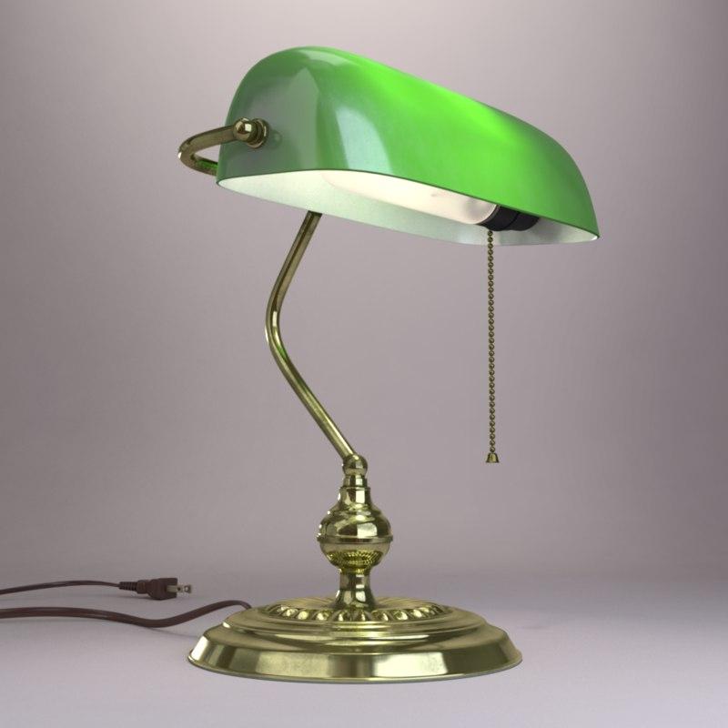 obj banker s desk lamp