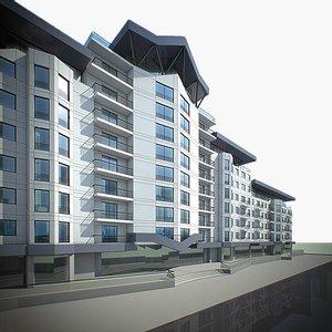 apartment house build 3d model