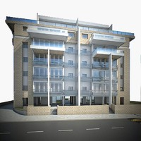 3d model residential building architecture