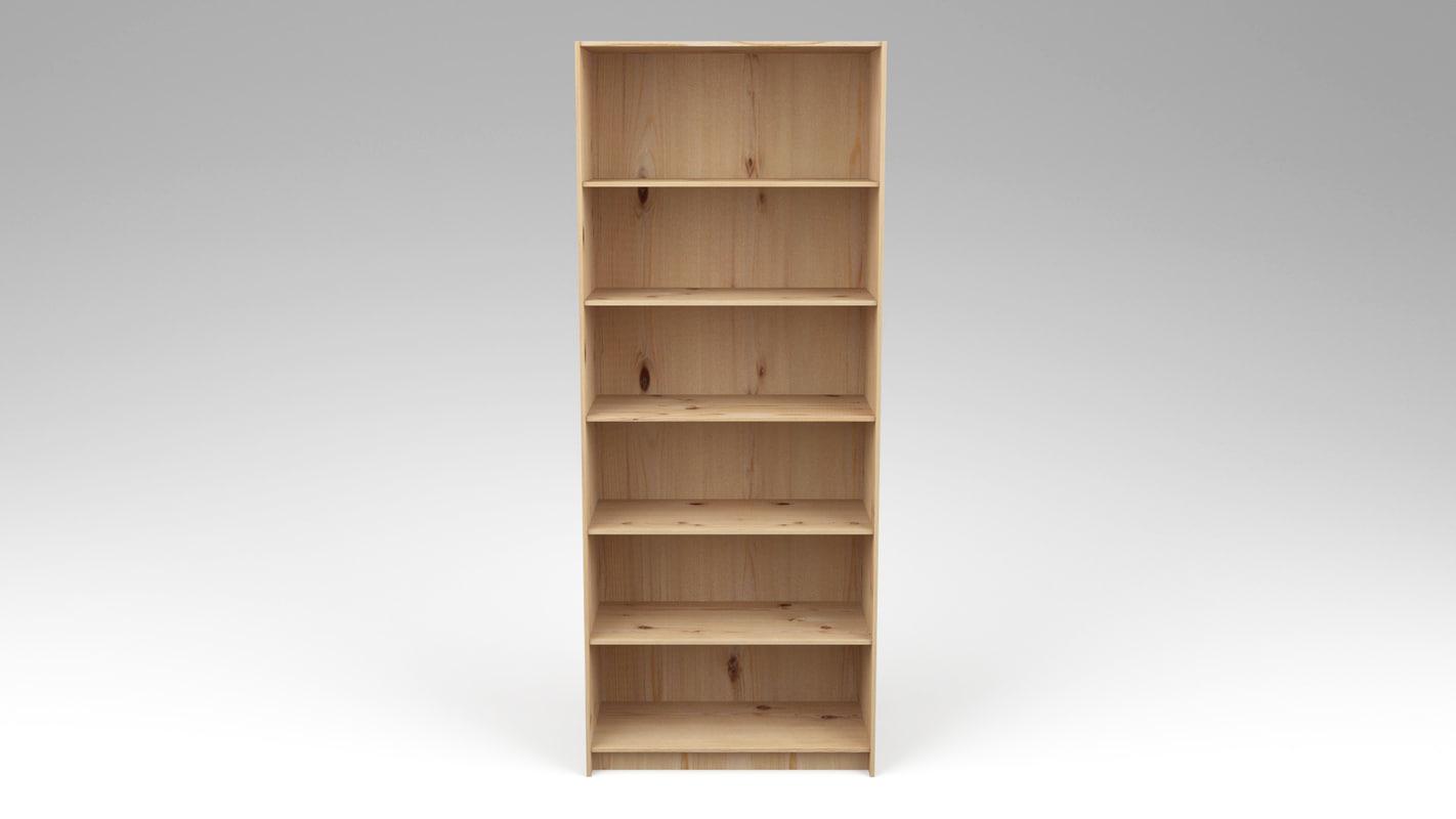 3dsmax pine bookcase