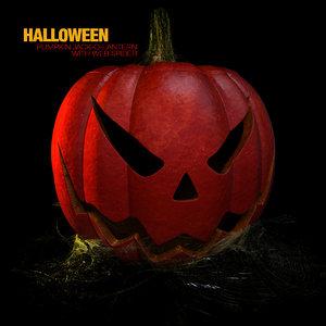 pumpkin halloween spider webs 3d model