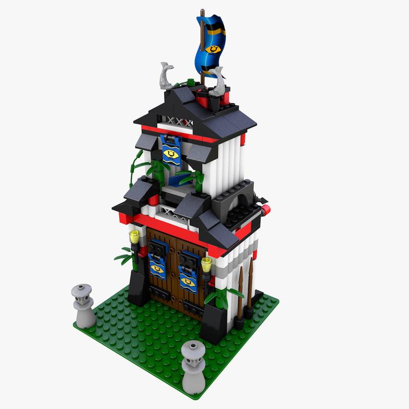 6083 tower 3d c4d