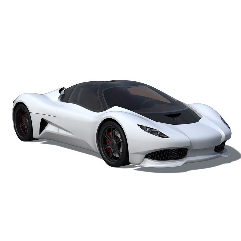 3d model anaconda supercar sports car