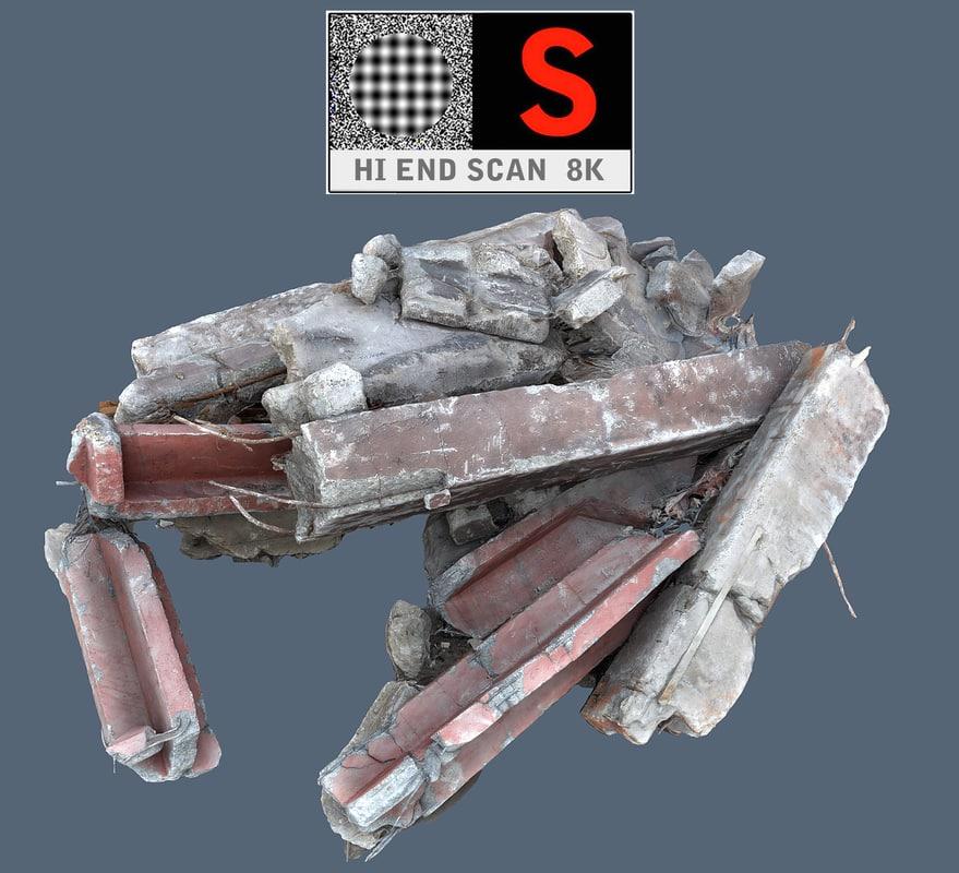 3d model of demolished 8k