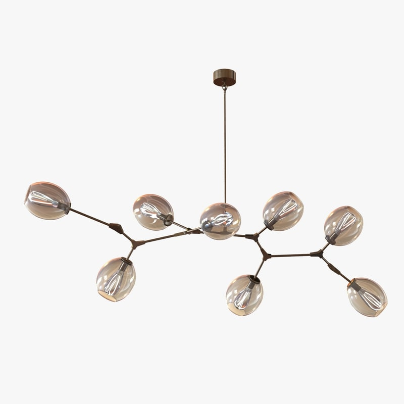 gorgeous chandelier globes 3ds