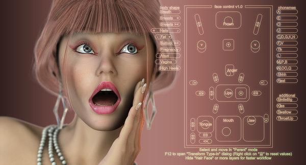 lola female v3 9n 3d model