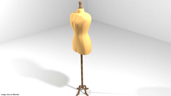 3d model fashion display