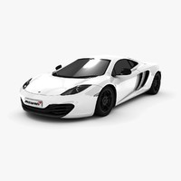 mclaren mp4-12c supercar 3d model