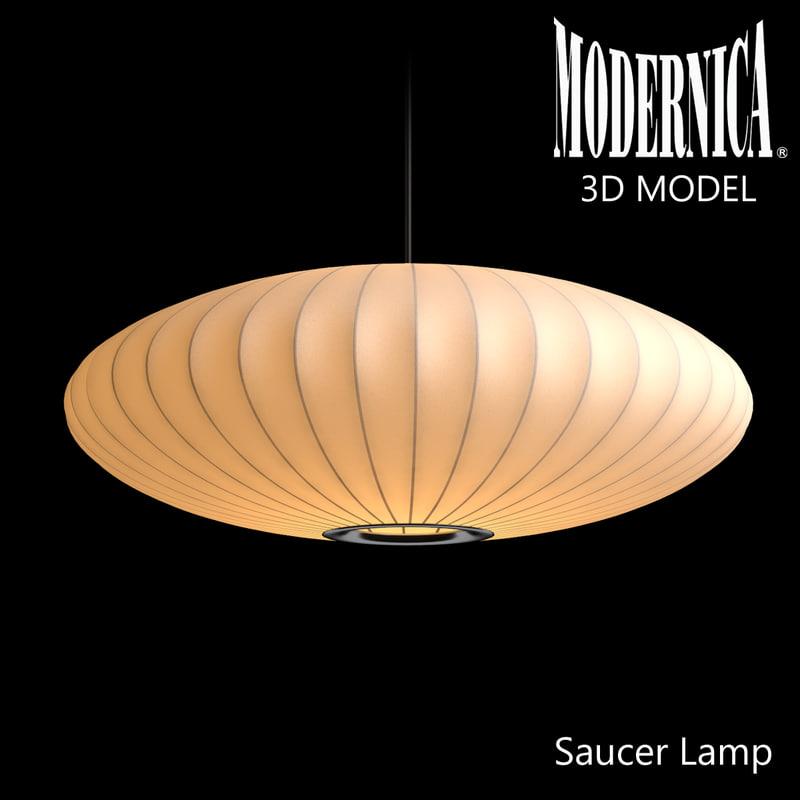 3d modernica saucer lamp model