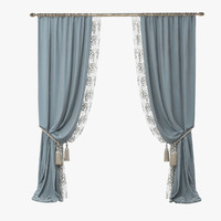 3d curtains classic style model