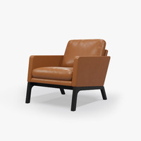 boconcept monte chair leather 3d model