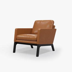boconcept monte chair leather 3d model