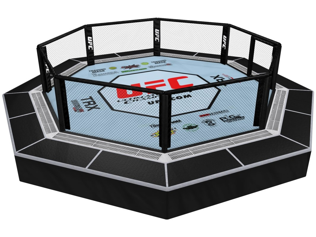 3ds max ufc octagon ring