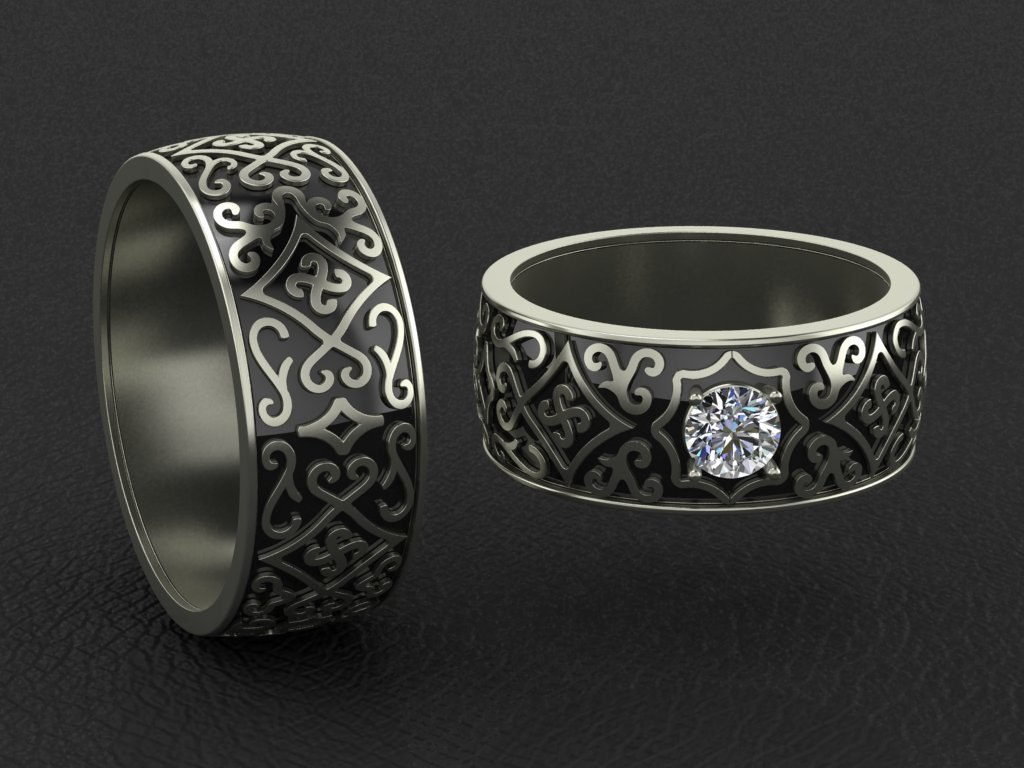 3d ring pattern