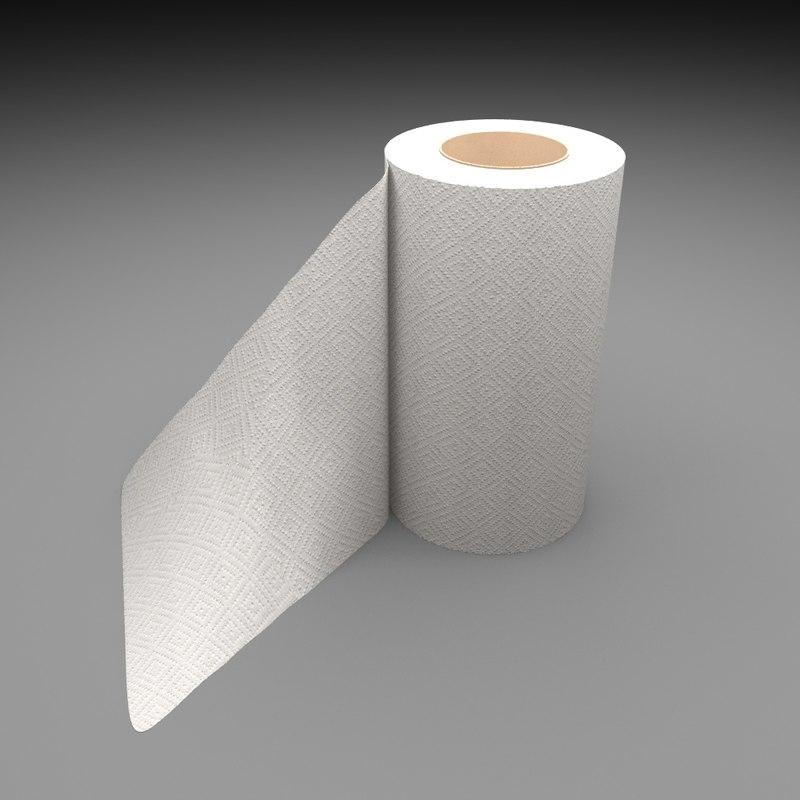 kitchen towel 3d model