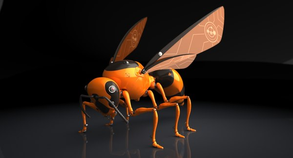 3d model of autonomous robot wasp