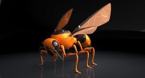 3d model of autonomous robot wasp