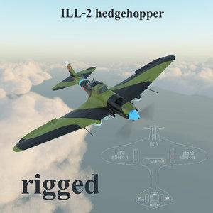 il-2 hedgehopper 3d model