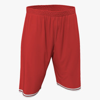 max basketball shorts red