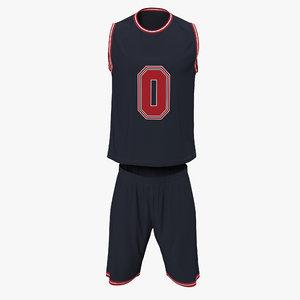 3dsmax basketball uniform black