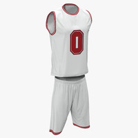 3d basketball uniform white