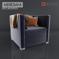 belmondo armchair meridiani 3d model
