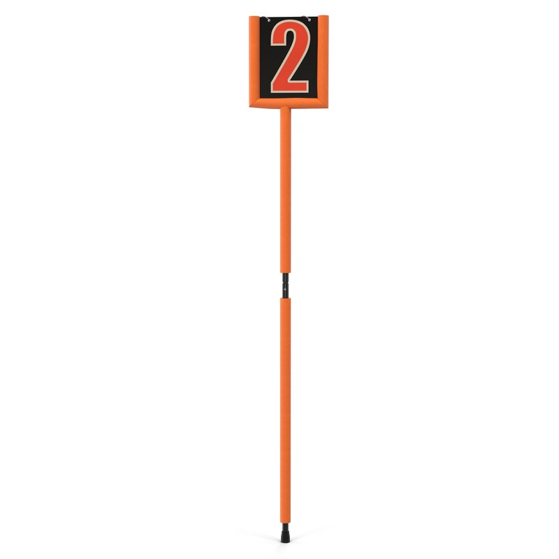 3d american football second marker model