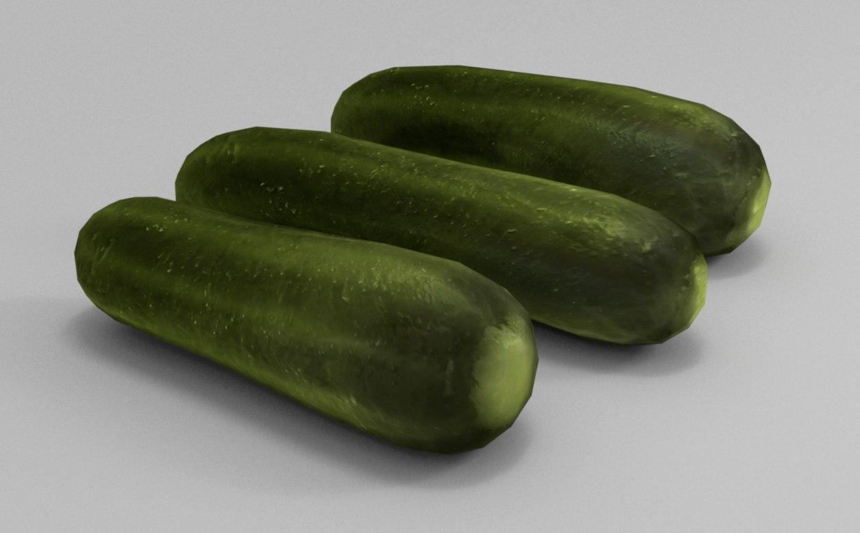 cucumber 3d max